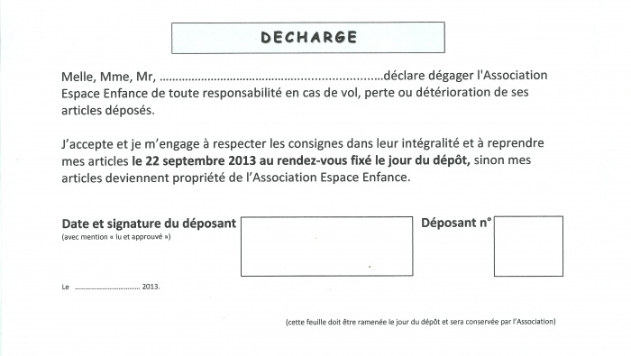exemple de decharge